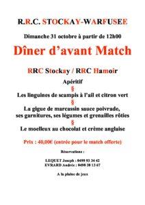 Dimanche 31/10/2021 Dîner d'avant match Stockay - Hamoir @ Stade du RRC Stockay-Warfusée | Saint-Georges-sur-Meuse | Wallonie | Belgique